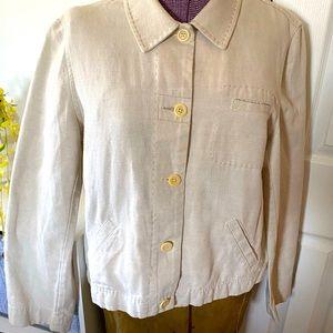 Ann Taylor Cotton/Linen Jacket L